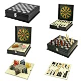 Natico Originals Office/Home Gaming System, 8-Games in Elegantly Designed Wooden Box (60-G057)