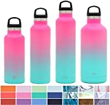 yellow water bottle - Simple Modern 24oz Ascent Water Bottle - Stainless Steel Hydro Swell Flask w/Handle Lid - Double Wall Vacuum Insulated Reusable Tumbler Small Kids Coffee Leakproof Thermos - Sorbet