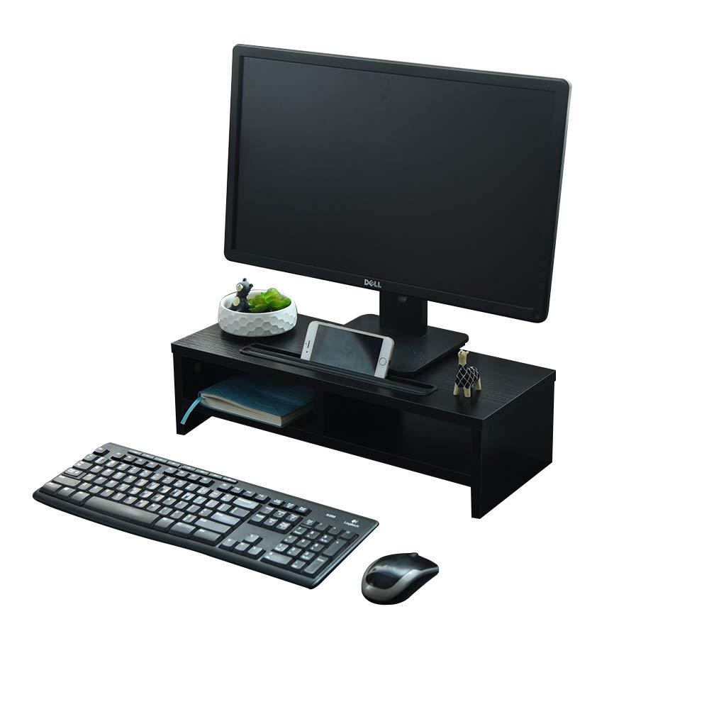 SF computer laptop 50 x 20 x 14 cm con supporto per smartphone e gestione cavi organizer a 2 ripiani scrivania Supporto in legno per monitor TV PC