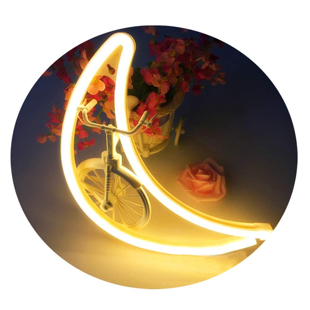 Amroe Lighting Neon Tube Love/Star / Cloud/Moon / Cactus/Lips / Flamingo/Lightning Led Lamp Children's Room Night Light Bar Atmosphere Light Dormitory Room Decoration Props