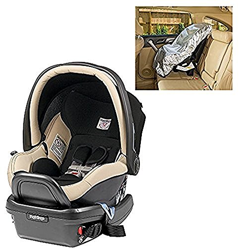 Peg Perego Primo Viaggio Infant 4/35 Paloma Leather Car Seat with Sunshade
