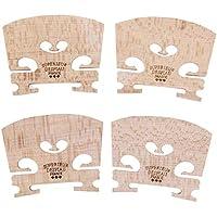 4 puentes de violín de madera de arce