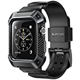 Electronics : Apple Watch 3 Case, SUPCASE [Unicorn Beetle Pro] Rugged Protective Case with Strap Bands for Apple Watch Series 3 2017 Edition [42mm, Compatible with Apple Watch 42mm 2015 2016 ] (Black)