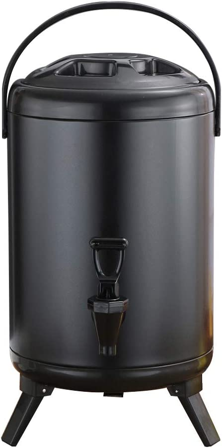 Stainless Steel Insulated Beverage Dispenser 8.2 Liter/2.1 Gallon,Insulated Thermal Hot and Cold Drink Dispenser, for Hot Chocolate Coffee Milk Water Juice (Black)