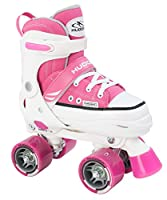 Hudora Mädchen Rollschuhe Roller Skate, pink, verstellbar Gr. 36-39, pink,...