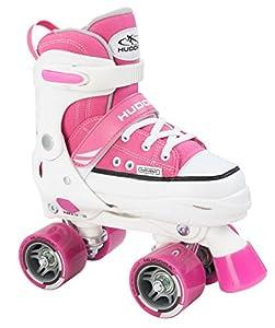 Hudora Mädchen Rollschuhe Roller Skate, pink, verstellbar Gr. 32-35, pink,...