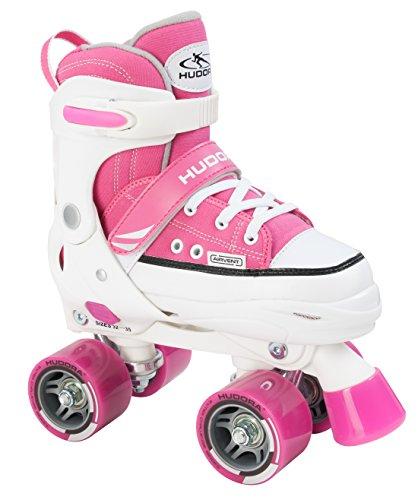 HUDORA Mädchen Rollschuhe Roller Skate, pink, verstellbar Gr. 32-35, pink, 32-35, 22034