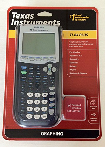 Wholesale CASE of 2 - Texas Inst. TI-84 Plus Graphing Calculator-Calculator, Graphing, USB Cable,3-1/3