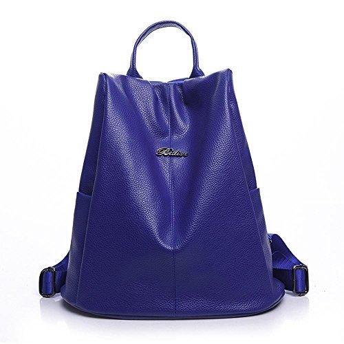 Aoligei señoras bolso ocio sencilla Coreano versión de viento mochila universitaria mujer bolsa de viaje B