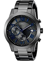 GUESS Mens Stainless Steel Multi-Function Casual Bracelet Watch, Color: Gunmetal (Model: U0668G2)