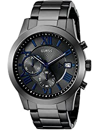GUESS Men's U0668G2 Dressy Gunmetal Stainless Steel Multi-Function Watch with Chronograph Dial and Deployment...