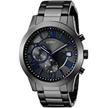 GUESS Men's Stainless Steel Multi-Function Casual Bracelet Watch, Color: Gunmetal (Model: U0668G2)