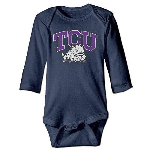 JJVAT Texas Christian University TCU Long Sleeve Bodysuit For 6-24 Months Toddler Size 18 Months Navy (Vtech Toddler Headphones)