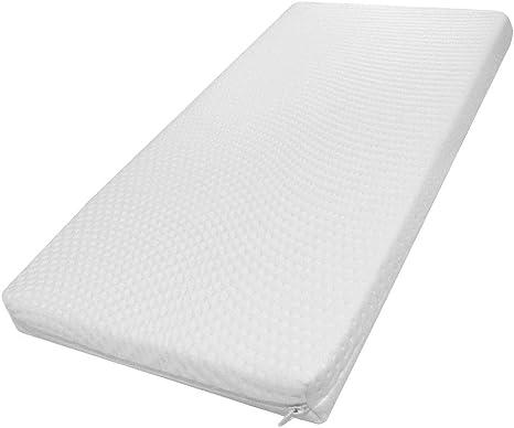 Modulit - Colchón desenfundable lavable para capazo, 40 x 80 x 5 cm, funda en bambú: Amazon.es: Bebé