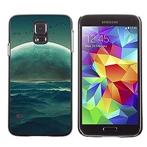 Majestic Rising De Thesun - Metal de aluminio y de plástico duro Caja del teléfono - Negro - Samsung Galaxy S5