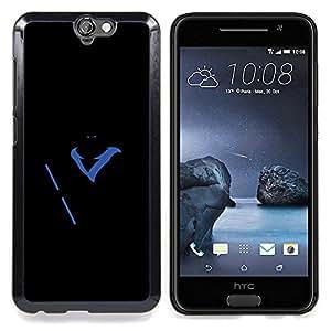 """Qstar Arte & diseño plástico duro Fundas Cover Cubre Hard Case Cover para HTC One A9 (Superhéroe Resplandor en la oscuridad"""")"""