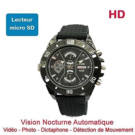 Reloj Mini Cámara Oculta espía HD 1280 x 720 de Lector de Micro SD visión Nocturna automática Cyber K dv69: Amazon.es: Electrónica