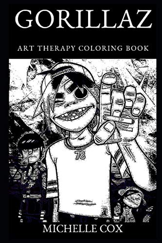 Gorillaz Art Therapy Coloring Book