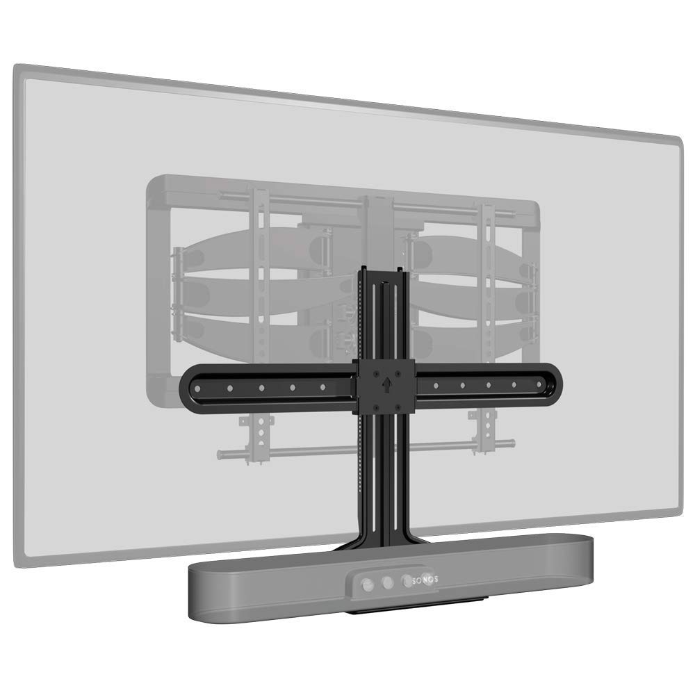 Sanus Soundbar Mount Compatible with Sonos Beam - Height Adjustable Up to 12'' & Designed to Work with Any TV - Custom Fit to The Beam for Optimal Audio Performance