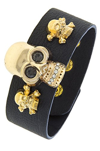Costume Trio Ideas (THE JEWEL RACK TRIO SKULL SOLID FAUX LEATHER BRACELET)