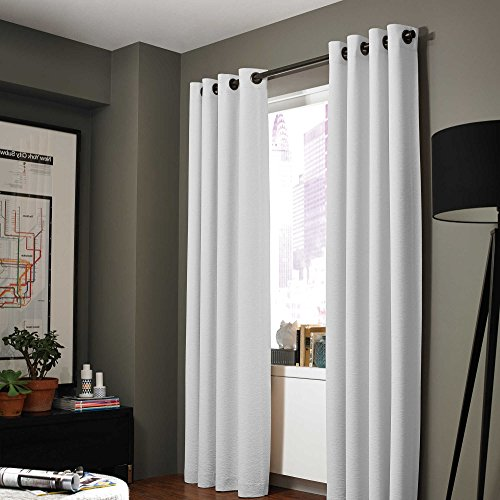 Midwest (WC86) Different Colors and Sizes1 Panel Drape Window Treatment Curtain Thermal Insulated White Coating Blackout Antique Grommets Solid Color (108