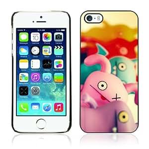 CQ Tech Phone Accessory: Carcasa Trasera Rigida Aluminio PARA Apple iPhone 5 5S - Cute Funny Characters