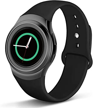 Compatible with Gear S2 Band, NAHAI Soft Silicone Straps Sport Bands Adjustable Replacement Wristband Watch Bracelet for Samsung Gear S2 Smartwatch, ...