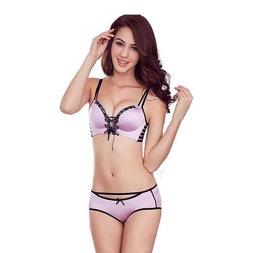 97ca20d9ca R V Women s Lace Adjustable Super Boost Magic Enhancer Push Up Bra+Briefs  Sets (32