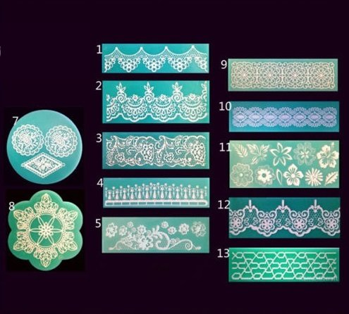 Classics Silicone Lace Mold Mould Lace Mat Fondant Gumpaste Sugarcraft Tool #4