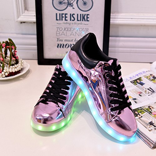 [Present:small towel]JUNGLEST® High Quality USB Charging LED Lighted Luminous for Unisex Couple Casual Sport Shoes Sneakers 7 color USB rechargeable LED c3 cb4oaI