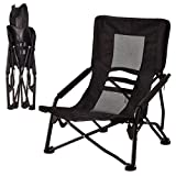 Outdoor High Back Folding Beach Chair Camping Furniture Portable...