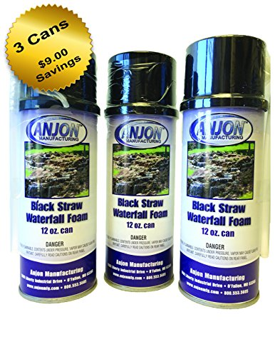 - Anjon Manufacturing Professional Waterfall Foam 12oz Can, Black, No Gun Needed (3)