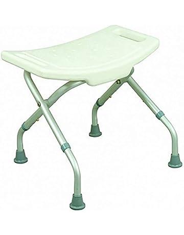Mobiclinic Silla de Ducha/baño | Aluminio | Taburete Plegable y Regulable en Altura |