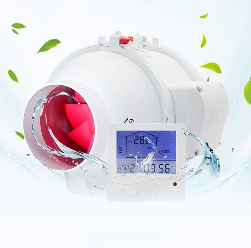 Ventilador de ventilación doméstico Ventilador Extractor De Conducto En Línea For Baño, 4 Pulgadas con Temporizador/Interruptor De Tres Velocidades/Control Remoto Inteligente A Prueba De Agua LITI