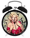 Marilyn Monroe Alarm Desk Clock Home Office Decor F86 Nice For Gifts