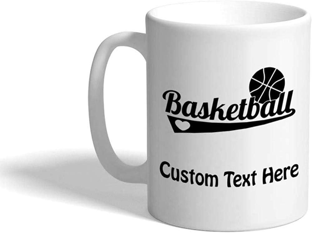 Taza de café personalizada 330 ml Baloncesto Una taza de té de cerámica deportiva Texto personalizado