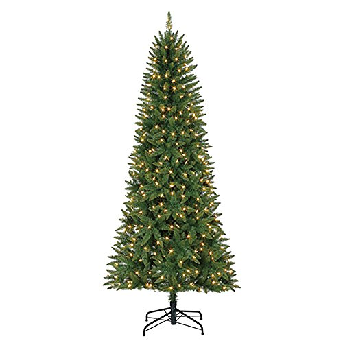 Ready Lit Christmas Trees - Evergreen Classics 7' Brighton Pre-Lit LED Artificial Fir Christmas Tree & Stand