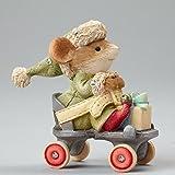Enesco Heart of Christmas Mouse on Skate Figurine, 2.05-Inch