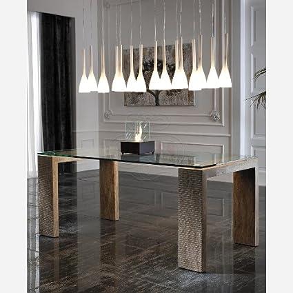 Tavolo da cucina fisso in vetro - ST256: Amazon.it: Casa e cucina