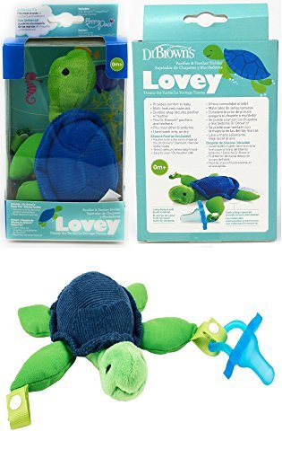 Dr. Browns - Turtle Lovey with Blue One-Piece Pacifier - Green/Blue