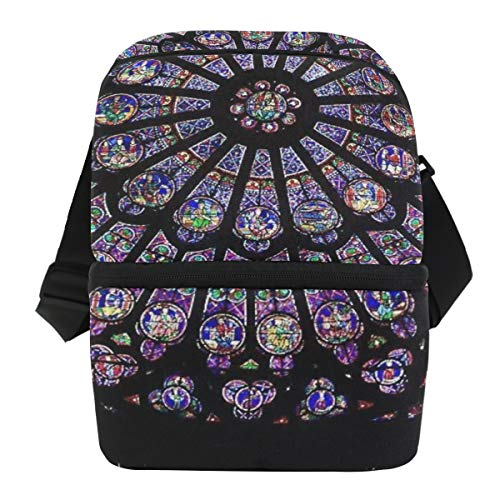 Lovexue Lunch Bag Notre Dame Art Customization Portable Cooler Bag Adult Leakproof Grocery Storage Zipper Tote Bags for Outdoor