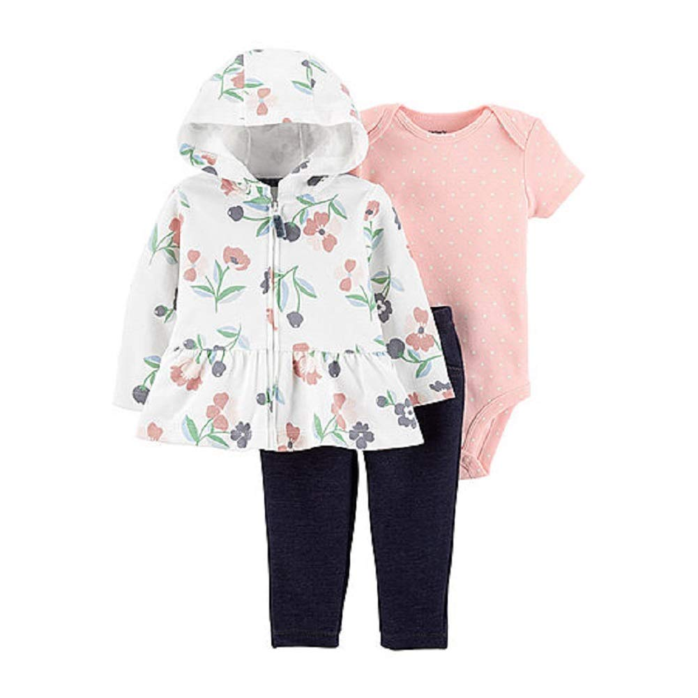 d4642aa8d Amazon.com: Carter's Baby Girls 3-Piece Floral Jacket and Pants Set (18  Months): Clothing