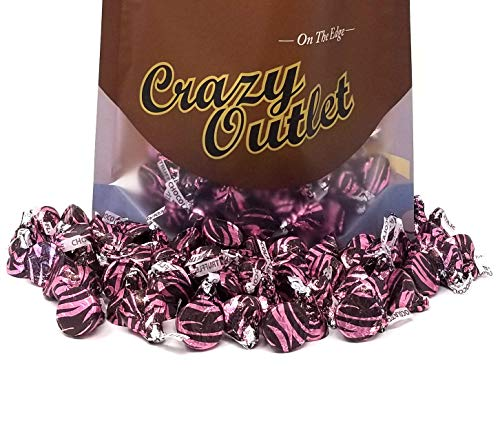 Hershey's Kisses Chocolate Truffle, Dark Chocolate with Chocolate Meltaway Center, Valentines Day Candy, 2 lbs