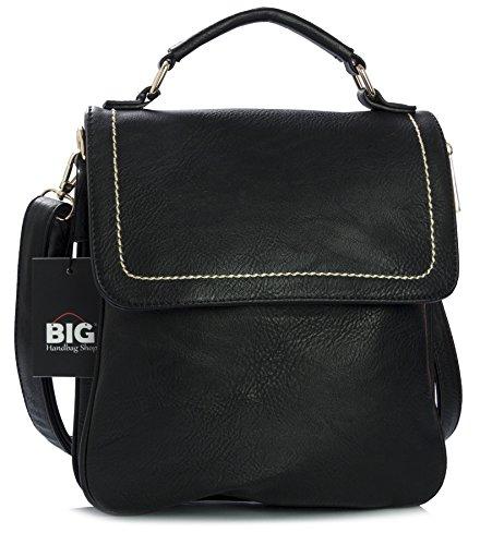 Big Handbag Shop - Bolso al hombro de sintético para hombre One negro - negro