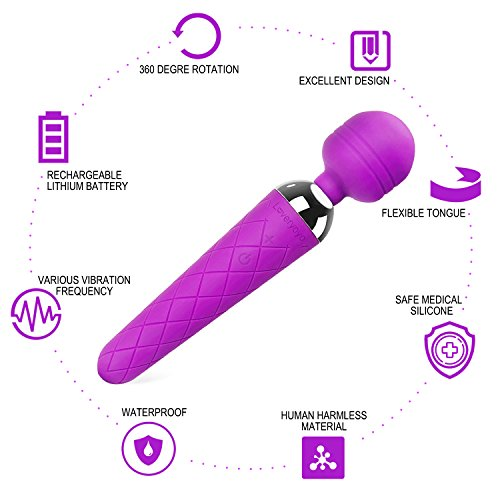 Louviva Clitoris Stimulation Vibrator, 10 Speeds Silicone Adult Rechargeable Sex Massage Toy for Women and Couples (Purple)