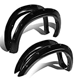 08 tundra fender flare - Toyota Tundra Smooth Textured Pocket-Riveted Style Side Fender Wheel Flares - 4pc (Black)
