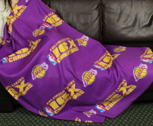 Los Angeles Lakers NBA''16 Times Champions'' Fleece Throw Blanket by Northwest