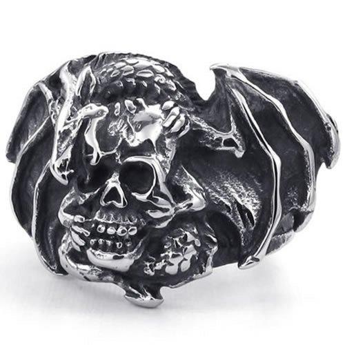 KONOV Stainless Vintage Gothic Dragon