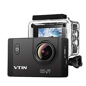 Vtin Eypro 1S Cámara Deportiva Sumergible de VicTsing, 1080p Vídeo y 12MP Imagen, WIFI para Compartir con Amigos, Accesorios Gratís, Perfecto para Deprotes al Aire Libres