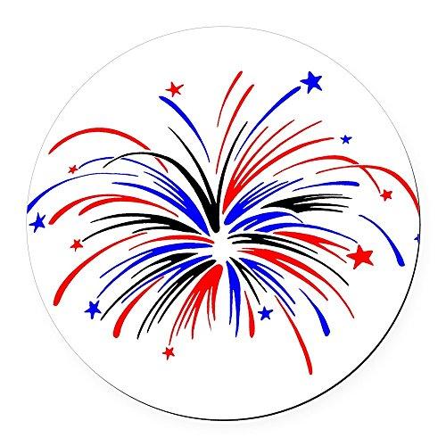 CafePress - Fireworks - Round Car Magnet, Magnetic Bumper Sticker